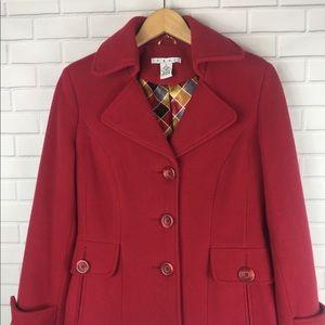 Cabi Red Peacoat Jacket Style 619 size 6